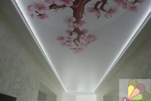 Фотографии натяжных потолков с подсветкой